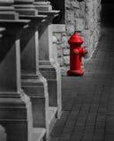 Boca de incendios roja Imagenes de archivo