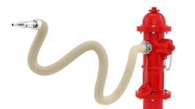 Boca de incêndio de fogo vermelho Imagem de Stock Royalty Free
