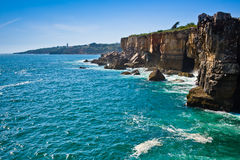 Boca de inferno (mouth of hell) in Cascais Stock Images