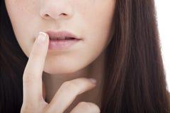 Boca de la mujer Imagen de archivo libre de regalías