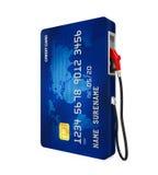 Boca de la tarjeta de crédito y de la bomba de gas libre illustration