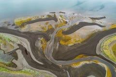 Boca de río abstracta Imagen de archivo
