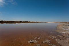 Boca de río de Ugab Foto de archivo libre de regalías