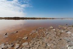 Boca de río de Ugab Fotos de archivo