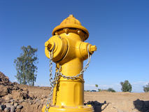 Boca de riego de fuego amarilla Imagenes de archivo