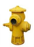 Boca de riego de fuego amarilla antigua imágenes de archivo libres de regalías