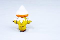 Boca de riego de fuego en una manta de la nieve Fotos de archivo