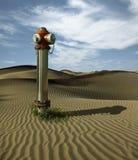 Boca de riego del agua en las dunas de arena Fotografía de archivo libre de regalías