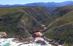 Boca de rio de Bloukrans Foto de Stock Royalty Free