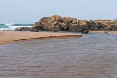 Boca de rio de Umhlali Fotografia de Stock Royalty Free