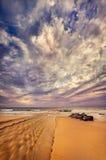 Boca de rio impressionante em uma praia do paraíso fotografia de stock royalty free
