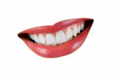 Boca de sorriso da mulher Imagem de Stock