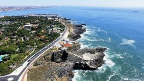 Boca do inferno, Cascais, Portugal. Boca do Inferno first came to prominence back in 1896 when it featured in one of the earliest moving films. Imaginatively royalty free stock photo