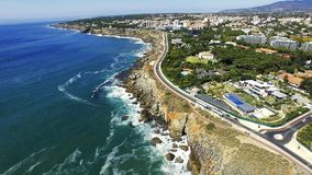 Boca do inferno, Cascais, Portugal. Boca do Inferno first came to prominence back in 1896 when it featured in one of the earliest moving films. Imaginatively stock image