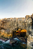 Boca do Inferno chasm aka Hell`s Mouth, Cascais, Portugal. Boca do Inferno chasm aka Hell`s Mouth in Cascais, Portugal Royalty Free Stock Photography