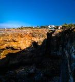 Boca do Inferno chasm aka Hell`s Mouth, Cascais, Portugal royalty free stock photo