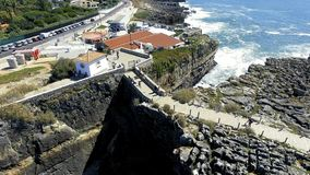 Boca do inferno, Cascais, Portugal. Boca do Inferno first came to prominence back in 1896 when it featured in one of the earliest moving films. Imaginatively royalty free stock photography