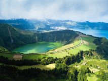 Boca do Inferno lakes in Sete Cidades on San Miguel, Azores islands. Portugal stock images