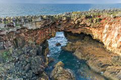 Boca do Inferno - Portugal. Boca do Inferno Portuguese for Hell`s Mouth is a chasm located in the seaside cliffs close to the Portuguese city of Cascais, in the Stock Image