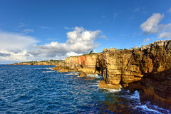 Boca do Inferno - Portugal. Boca do Inferno Portuguese for Hell`s Mouth is a chasm located in the seaside cliffs close to the Portuguese city of Cascais, in the Royalty Free Stock Photography
