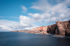 Boca do Inferno - Portugal. Boca do Inferno Portuguese for Hell`s Mouth is a chasm located in the seaside cliffs close to the Portuguese city of Cascais, in the Stock Images