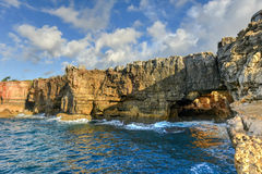 Boca do Inferno - Portugal. Boca do Inferno Portuguese for Hell`s Mouth is a chasm located in the seaside cliffs close to the Portuguese city of Cascais, in the Royalty Free Stock Photo