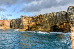 Boca do Inferno - Portugal. Boca do Inferno Portuguese for Hell`s Mouth is a chasm located in the seaside cliffs close to the Portuguese city of Cascais, in the Royalty Free Stock Images