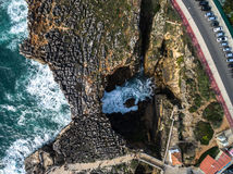 Boca do Inferno (Portuguese for Hell's Mouth), Cascais, Portugal.  Stock Photos