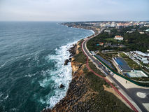 Boca do Inferno (Portuguese for Hell's Mouth), Cascais, Portugal.  Stock Photo