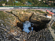 Boca do Inferno (Portuguese for Hell's Mouth), Cascais, Portugal Royalty Free Stock Photos