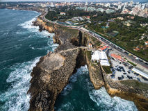 Boca do Inferno (Portuguese for Hell's Mouth), Cascais, Portugal.  Royalty Free Stock Photos