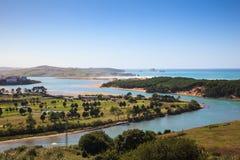 Boca do Pas do rio, mar cantábrico Imagem de Stock Royalty Free