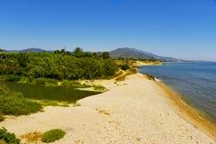 Boca do rio de Senia em Vinaros, Espanha foto de stock royalty free