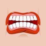 Boca enojada Emoción agresiva Mueca de Straseni Imagen de archivo libre de regalías