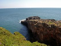 Boca fa l'inferno - Cais Cais - Portogallo fotografia stock
