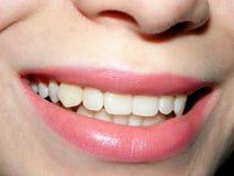 Boca feminino de sorriso Foto de Stock Royalty Free