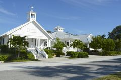 Boca Grande. Florida, church on a hot summers day Stock Photos