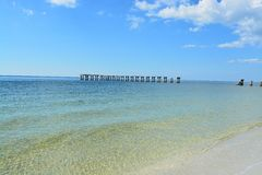 Boca Grande, Florida. With disused bridge and crystal clear water Stock Photo