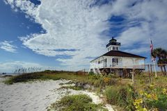 Boca Grande Light. House on Gasparilla Island in Boca Grande, Florida Stock Photography