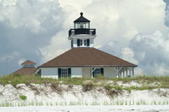 Boca Grande Lighthouse. On Gasparilla Island, FL just prior to a storm Stock Photos