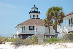 Boca Grande Lighthouse. The lighthouse on the southern tip of Gasparilla Island on the gulf coast of florida marking boca grande pass royalty free stock images
