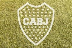 Boca Junior emblem på gräs fotografering för bildbyråer