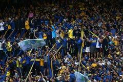Boca Junior fans stock photography