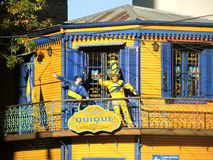 Boca Juniors museum. BUENOS AIRES – MARCH 29: One of the museums dedicated to the soccer team boca Juniors, La boca neighborhood on March 29, 2013 in Buenos Royalty Free Stock Photos