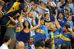 Boca Juniors supporters royalty free stock images