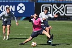 Boca Junios Training Benedetto und Perez stockfotos