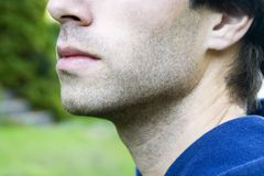 Boca masculina Imagen de archivo libre de regalías