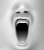 Boca que grita fotos de archivo libres de regalías