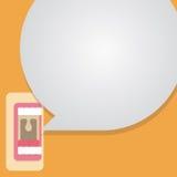 Boca que habla con discurso de la burbuja Imagen de archivo libre de regalías