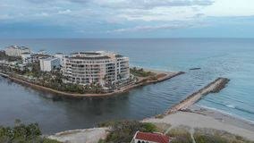 Boca Raton aerial view, Florida coastline.  royalty free stock images